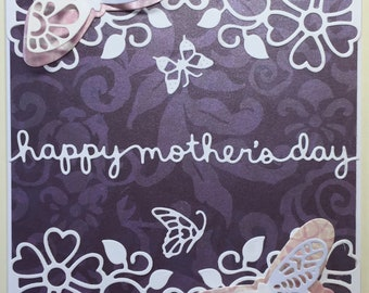 Butterflies and Flowers Mother's Day Card (A7)