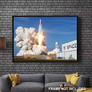 Tesla, Elon Musk, SpaceX, Starman, Falcon Heavy, Falcon Launch, Starman Tesla, Home Decor, Wall Art