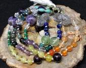 Rainbow Beaded Necklace, ...