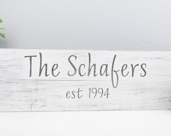 Family Name Established Sign - Custom Last Name Sign - Personalized Wood Signs - Wedding Established Sign - Family Est. Sign - Wedding gift