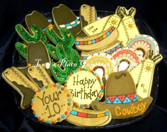 Cowboy and Indian Cookies - 24 cookies