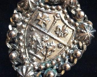 Vintage Shield Pendent