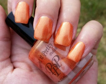 Tangerine, indie nail polish, orange nail polish, 5 free nail polish, paint it pretty polish 15 ml
