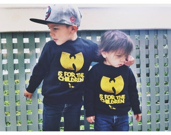 wutang is for the children toddler crewneck sweater.