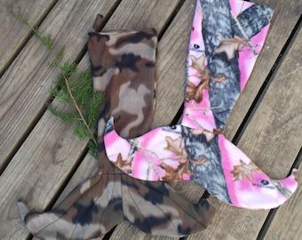 Camo Mermaid Tail Christmas Stocking - ready to ship!!!!