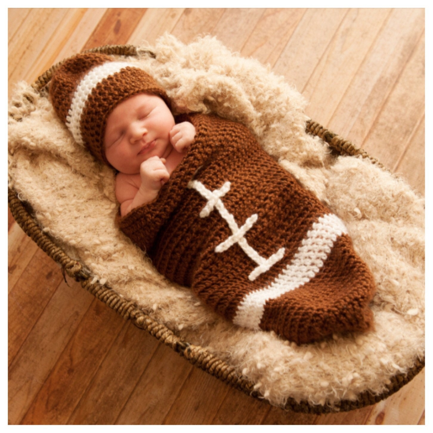 Baby football cocoon pattern/newborn football pattern/infant ...