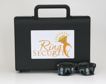 Gold Ring Security Briefcase and Sunglasses