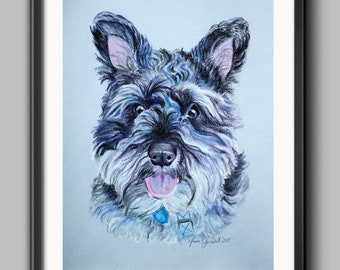 Pet Memorial Gift / Custom Pet Portrait / Dog Portrait / Custom Dog Portrait / Original Art from Photo /