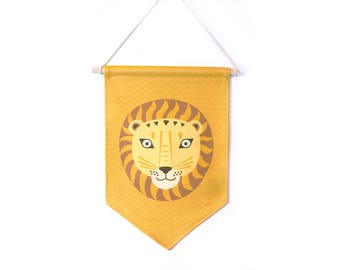 Decorative flag, LION, room, jungle, safari, Africa, decorative baby theme