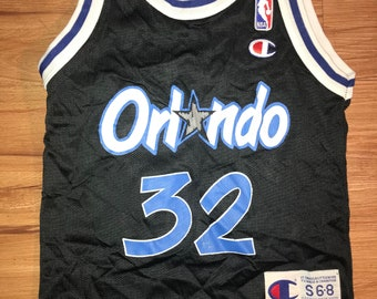 Vintage 90's Champion Orlando Magic Shaquille ONeal NBA jersey youth Kids size Small 6-8