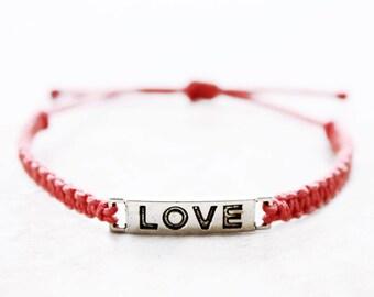 Love Bracelet - Hemp Bracelet - Hemp Jewelry