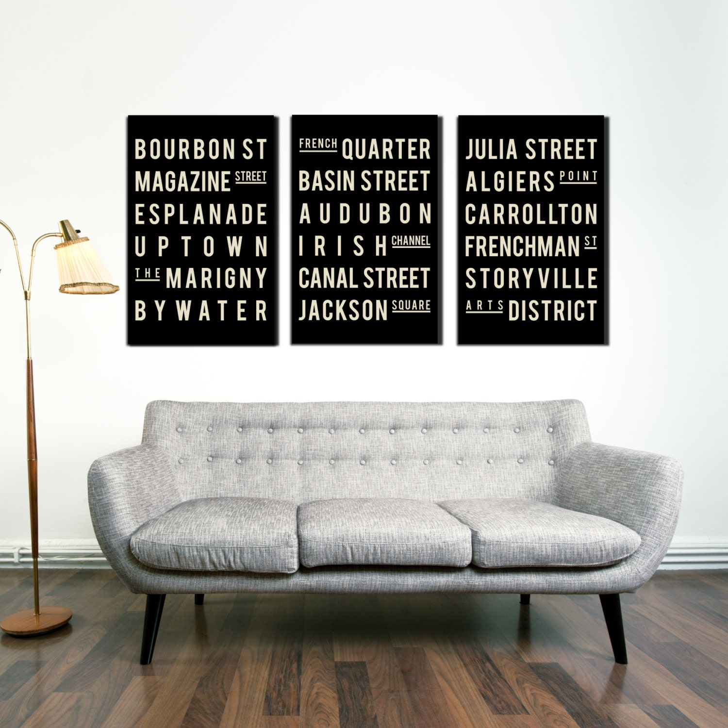 Poster, New Orleans Subway Art, City Art, Quote Sign, Home Decor, Typography Print, Room Art