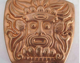 1 Vintage Aztec Mayan Stamping