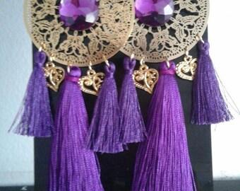 Purple maxi earrings