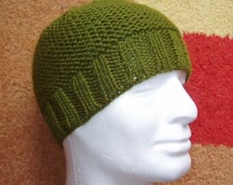 KNITTING PATTERNS /BEAU Beanie Pattern/Easy Beanie Pattern/Hat Knit Flat/Easy Beginners Hat/Simple Knit Hat/Easy Hat Pattern/Mans Knit Hat