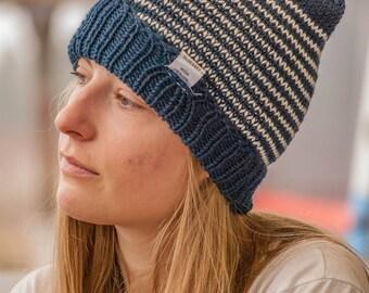 Handmade Merino Wool Beanie Hat