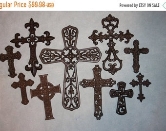 """14% OFF 10) Crosses, Christian Family Home Decor, Mid-Century Cross Collections, Cast Iron Cross Decor, """"Castile"""", Free Shipping ~"""