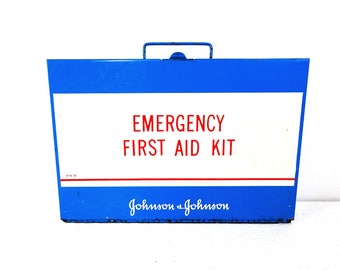 Vintage Johnson & Johnson Emergency First Aid Kit