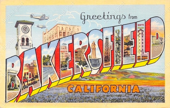 Greetings from bakersfield california vintage postcard clipart greetings from bakersfield california vintage postcard clipart image instant download retro large letter postcard printable postcard from digitalpast m4hsunfo Gallery