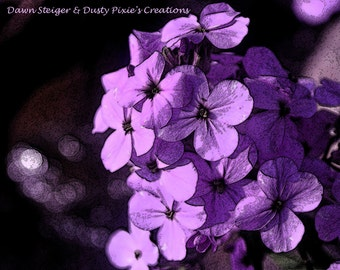 Pixelated Purple Petals (14x11)