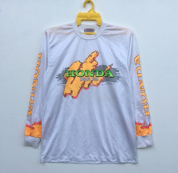 Motocross Sleeve Team Honda Honda Racing 80s Made Colourful Japan Vintage Long In UwBqEB7