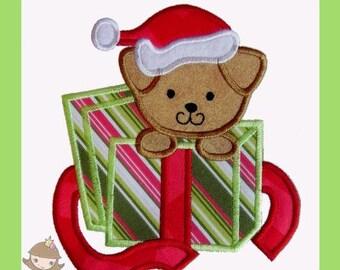 Christmas Puppy Applique design