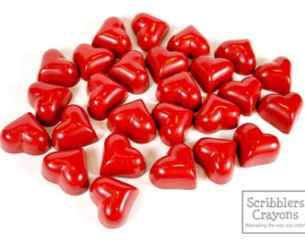 100 Valentine Hearts in a SINGLE color by Scribblers Crayons