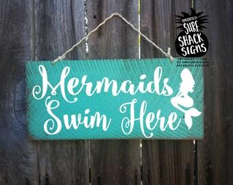 mermaid sign, mermaid decor, mermaid decoration, mermaids swim here, mermaids, mermaid, mermaid decoration, mermaid pool sign, 242