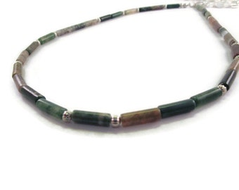 Skinny Fancy Jasper Necklace