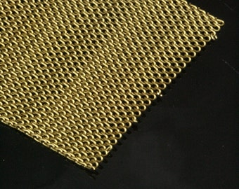 1 mt 3,3 feet 40 mm raw brass mesh chain