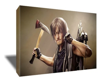 FREE SHIPPING Walking Dead's Daryl Dixon Canvas Art