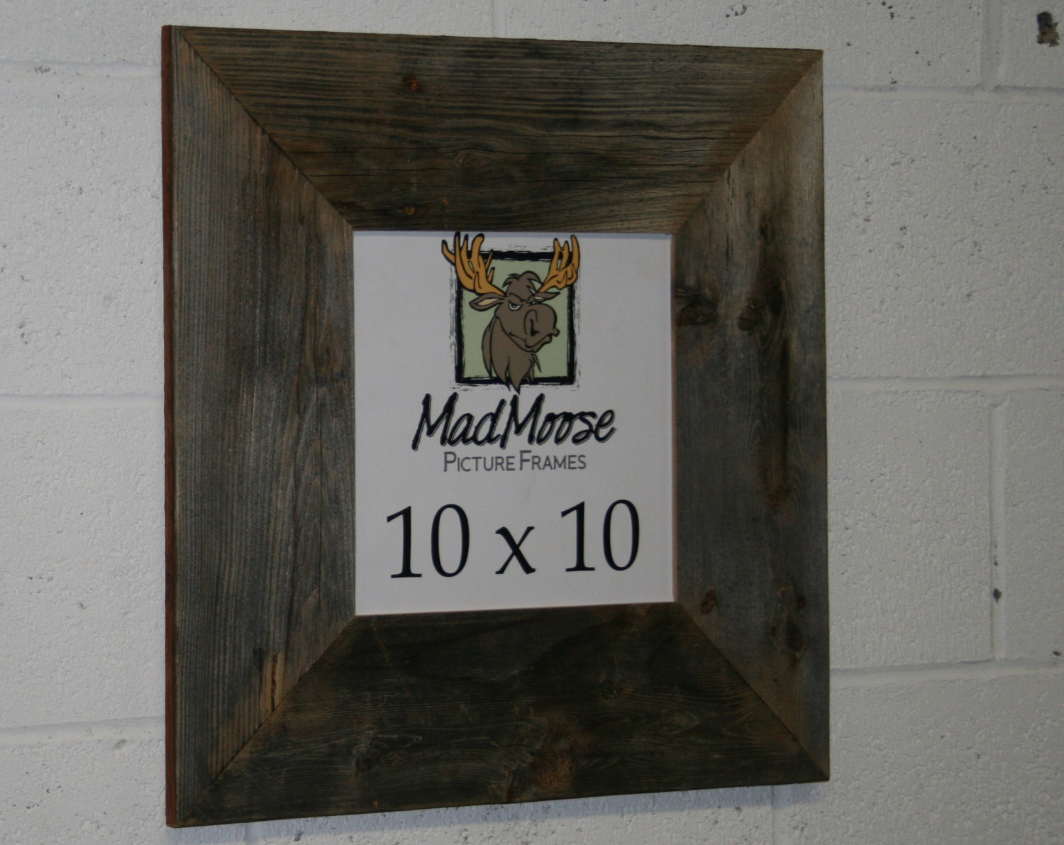 10X10 BarnWood [Thin x 5] Picture Frame
