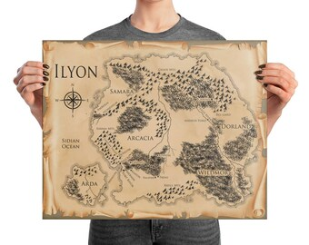 Ilyon Chronicles Map Poster