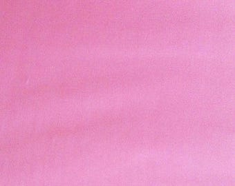 Fabric pink cotton Poplin by 10 cm
