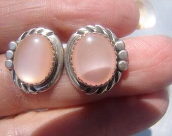 Mother Of Pearl Sterling Post Earrings 638.
