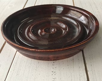 Soap Dish, Pottery Soap Dish, Rustic Red Pottery Spoon Rest, Handmade Pottery Soap Holder, Hostess Gift