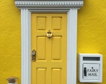 Fairy Door Mailbox \u0026 Pixie Dust - Glitter \u0027Lemon YELLOW\u0027 & Fairy Door Mailbox \u0026 Pixie Dust Glitter \u0027Under the Sea