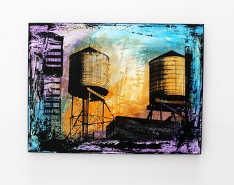 Water Towers 24X18