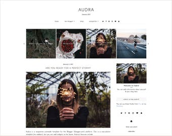 Audra | Responsive Blogger Template + Free Installation