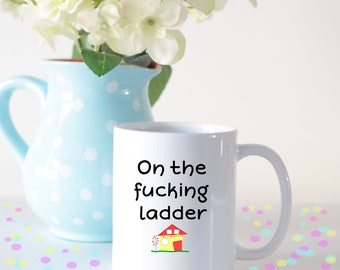 New home gift housewarming gift first home gift moving new home mug housewarming mug on the ladder mug housewarming gift first negle Choice Image