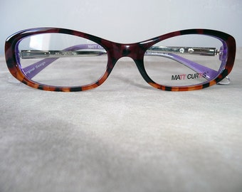 FRAMES - ECAILLE PURPLE - eye glasses vointage 80's