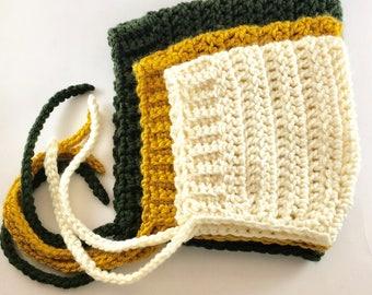 newborn baby toddler crochet pixie hat, pixie bonnet, baby hat, crochet hat, photography prop bonnet