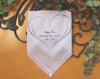 Wedding Guests handkerchief, PRINTED, Happy Tears Handkerchief, Wedding Favor, wedding hankies, Personalized. LS6FEDW[122]