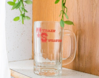 Train Station Glass Mug