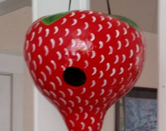 Strawberry Gourd Birdhouse
