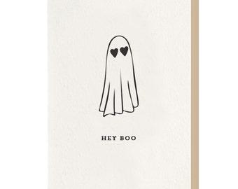 Letterpress - Hey Boo - Greeting