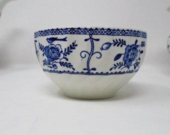 Johnson Brothers Indies Sugar Bowl blue and white