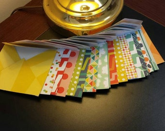 10 Scrapbook Paper Envelopes Set of 10 Small Envelopes for Notes Journals Crafting Planners Cards Snail Mail Happy Mail Stationery