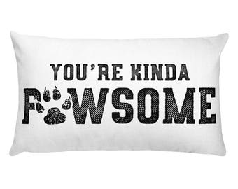 cat pillow cat pillows custom cat pillow cat lady gifts - you're kinda pawsome Rectangular Pillow