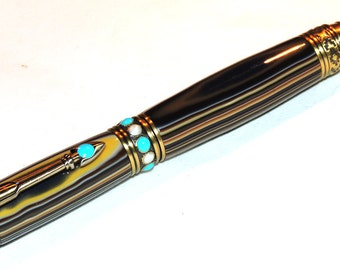 Hand Turned Southwest Acrylic Twist Pen